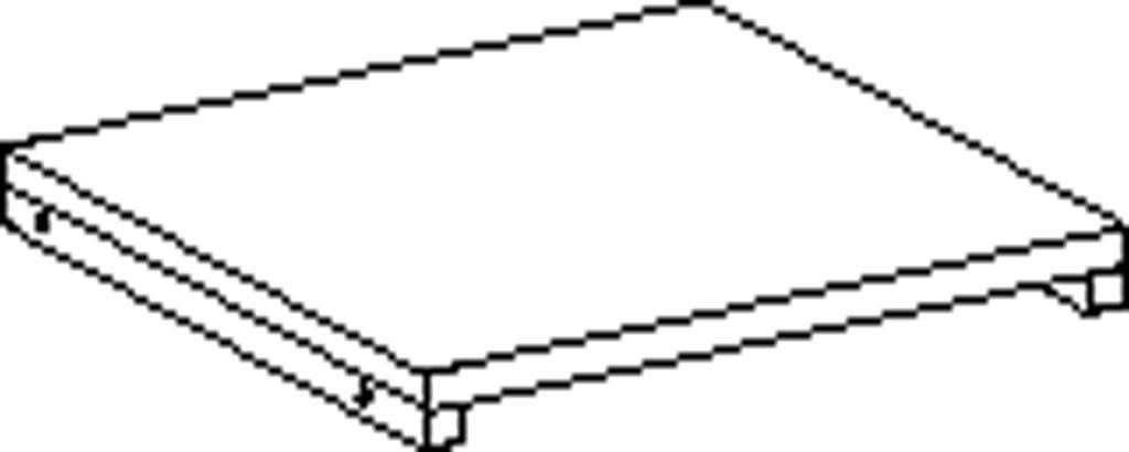 Čtvercová polica 40 cm