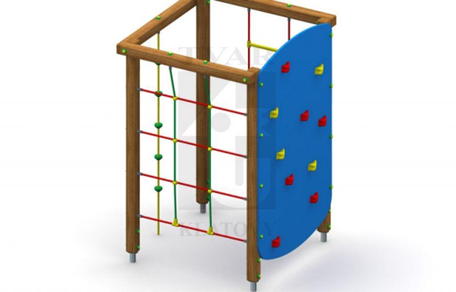Lanová stěna, lanový žebřík, horolezecká  stěna a šplhací lano