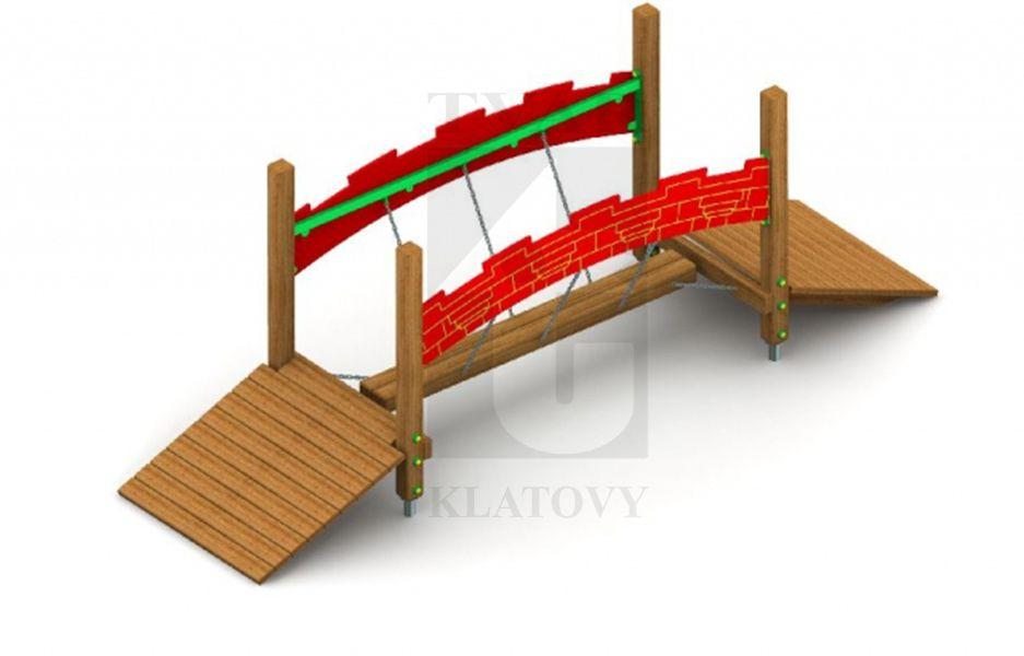 Mostík s pohyblivými hranolom