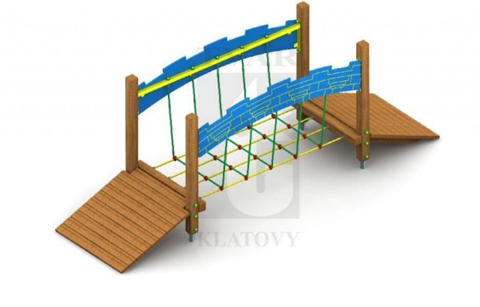 Mostík z lanovej siete