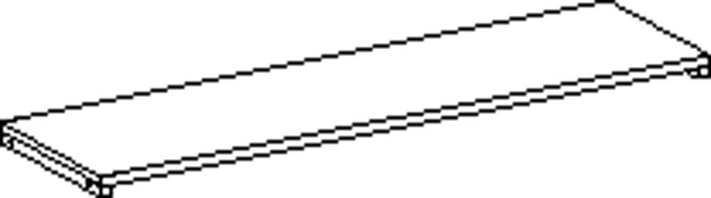 Obdélníková polica 120 cm