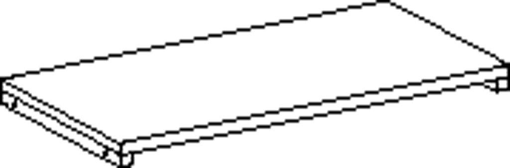 Obdélníková polica 80 cm