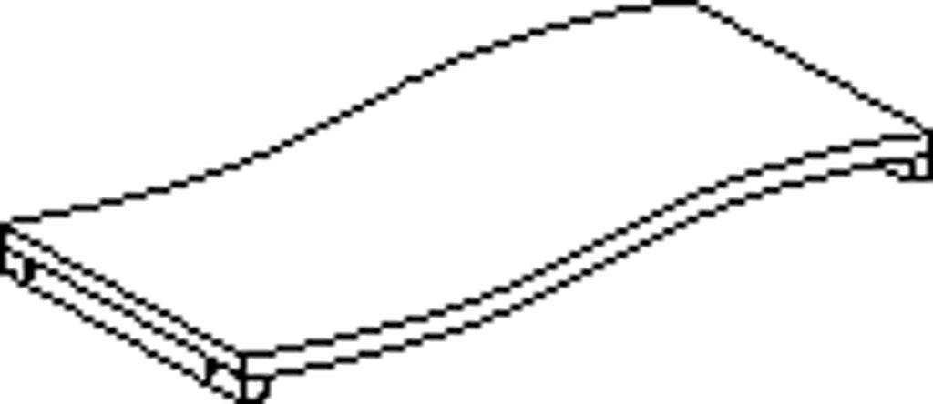 Profilová polica pravá 80 cm