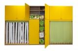 VÝPRODEJ SKLADU: Sestava skriní na lôžkoviny a matrace včetně nástavců pre 20 detí - komplet buk
