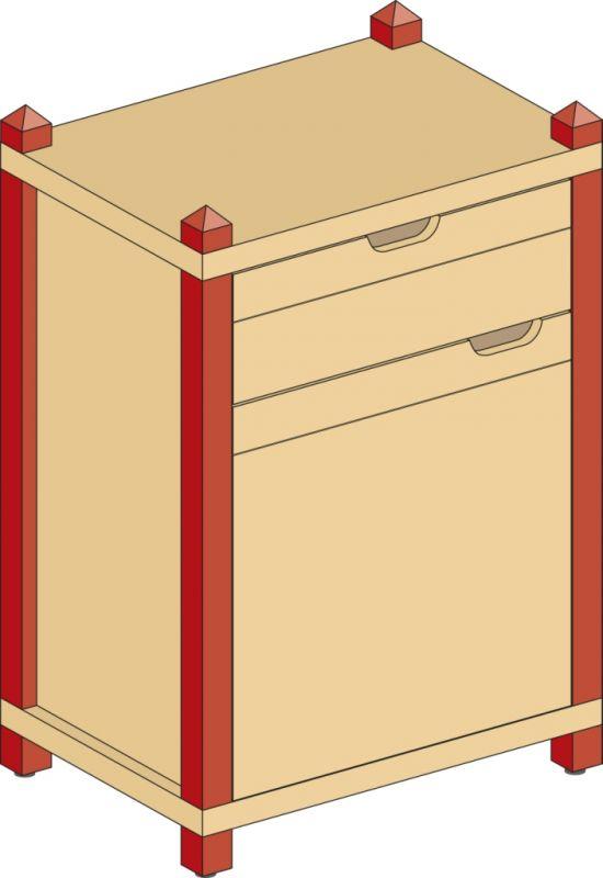 Skrinka kombinovaná so zásuvkou
