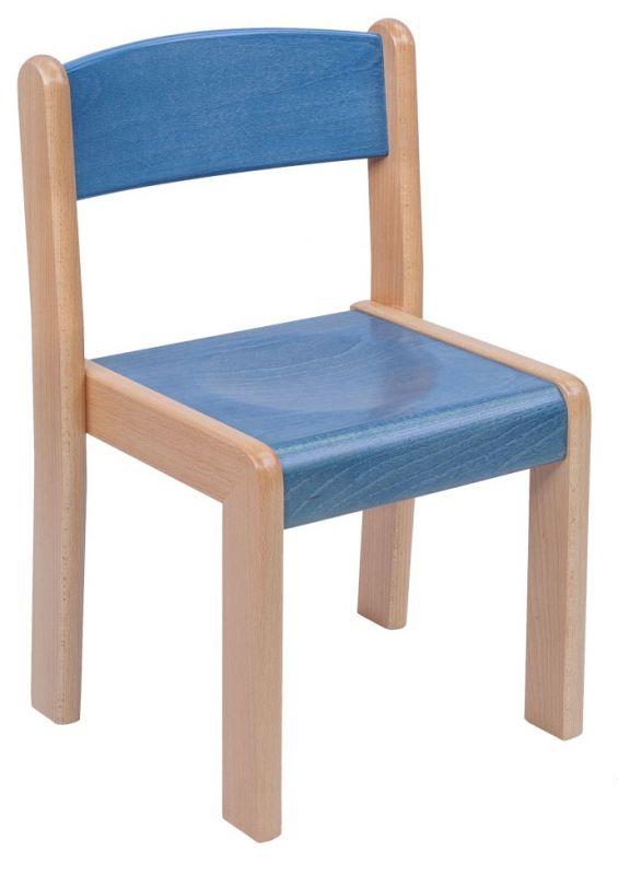 Stohovatelná židle TIM - morený sodák a opěrák
