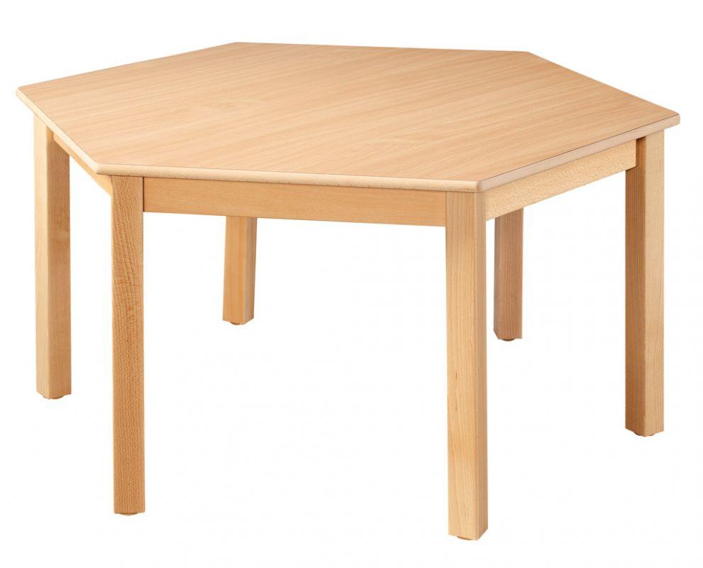 Šestistranný stôl o průměru 120 cm