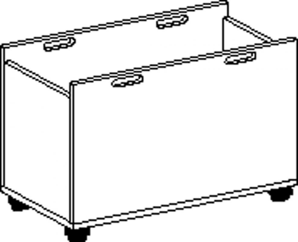 Volná zásuvka s kolečkami
