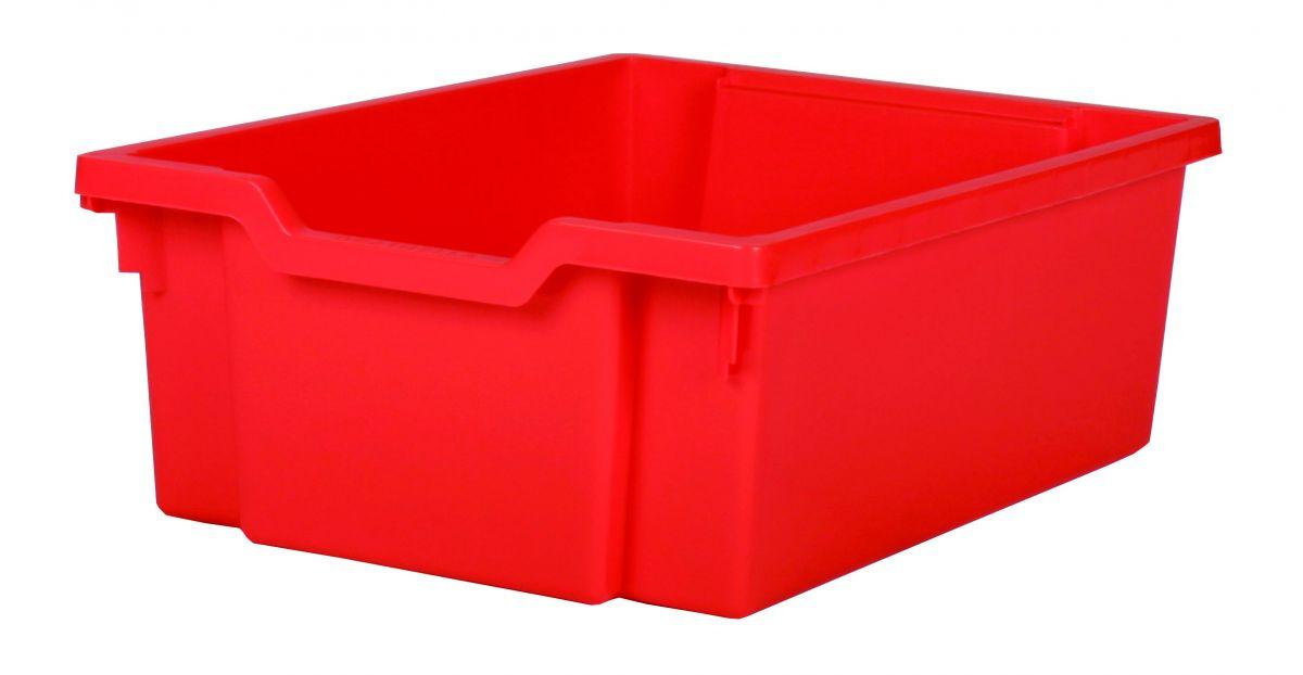 Zásuvka plast DOUBLE - červená