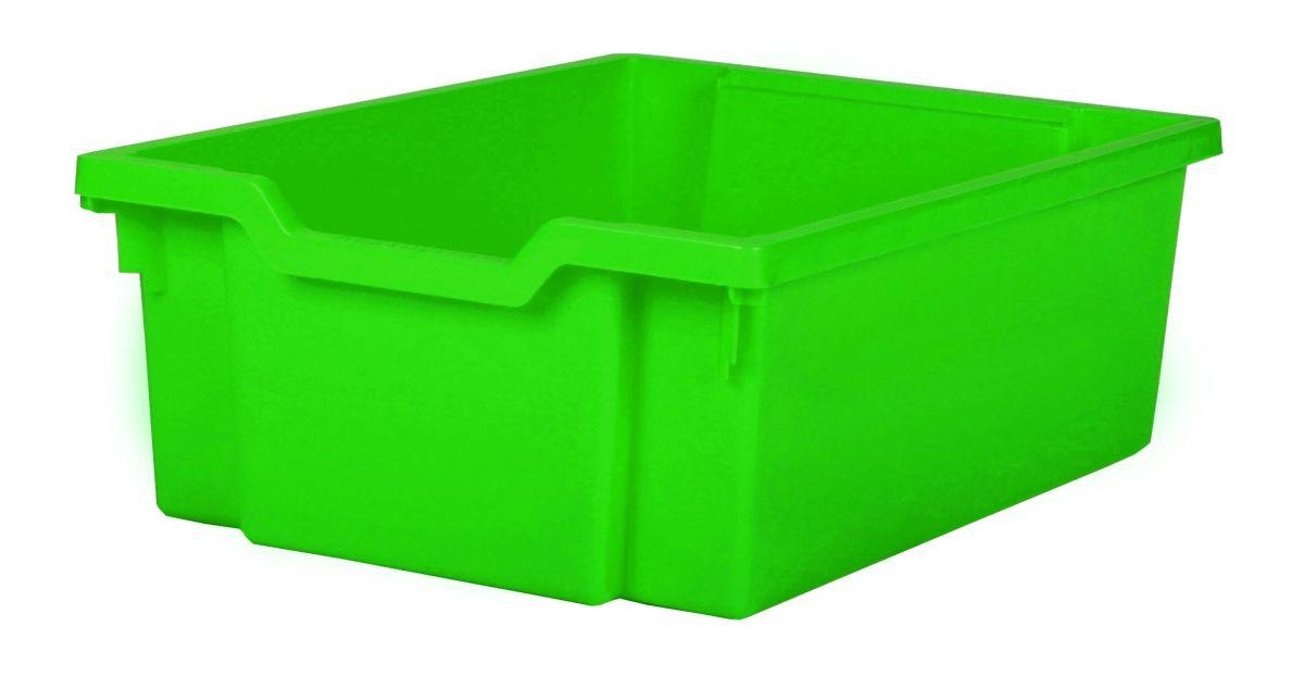 Plastová zásuvka DOUBLE - zelená Gratnells