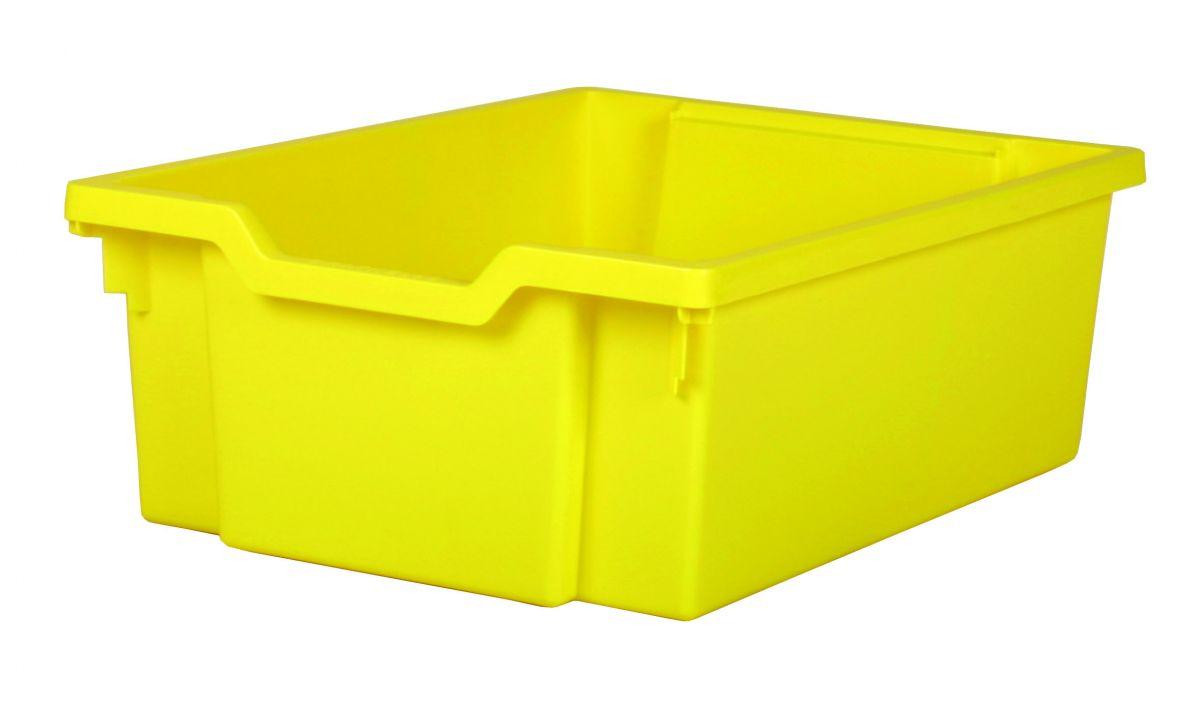 Plastová zásuvka DOUBLE - žltá Gratnells