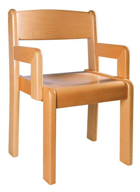 Stolička TIM s podrúčkou - prírodná