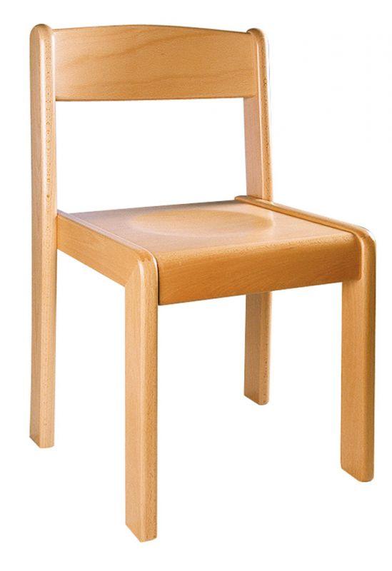 Stohovatelná židle TIM - prírodná