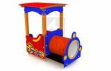 Lokomotiva s lavičkou a tunelom