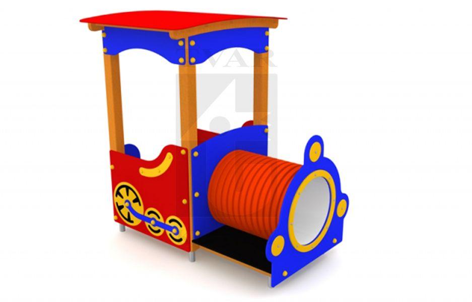 LOK 1 - Lokomotiva s lavičkou a tunelem