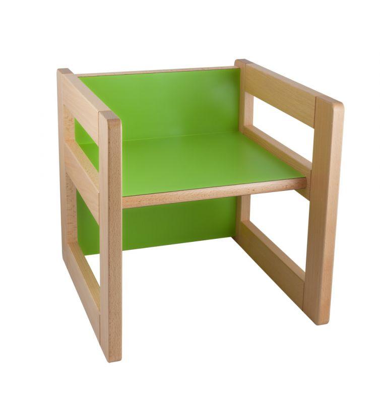 """Multifunkčný prvok """"CUBE"""" ako stolička 15/22 cm alebo stolček"""
