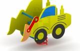Pružinová hojdačka Traktor