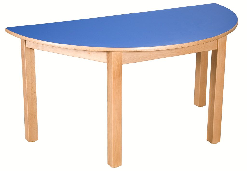 Půlkulatý stôl 80 x 40 cm s umakartovou pracovní doskou
