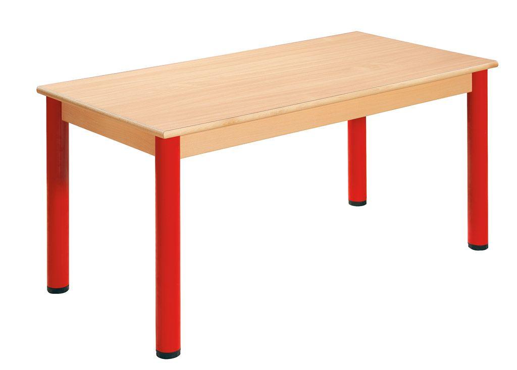 Stôl 120 x 60 cm / kovové nohy s rektifikačnou patkou