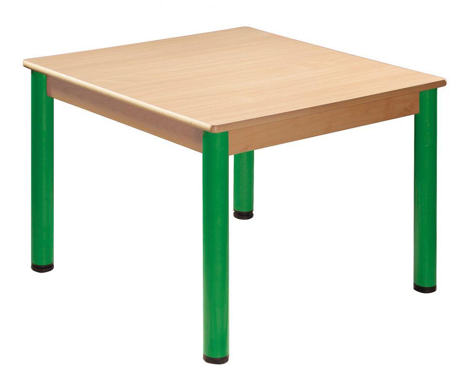 Stôl 80 x 60 cm / kovové nohy s rektifikačnou patkou