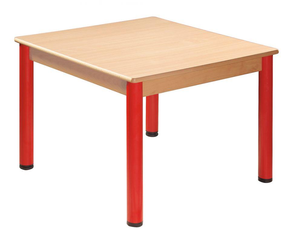 Stôl 80 x 80 cm / kovové nohy s rektifikačnou patkou