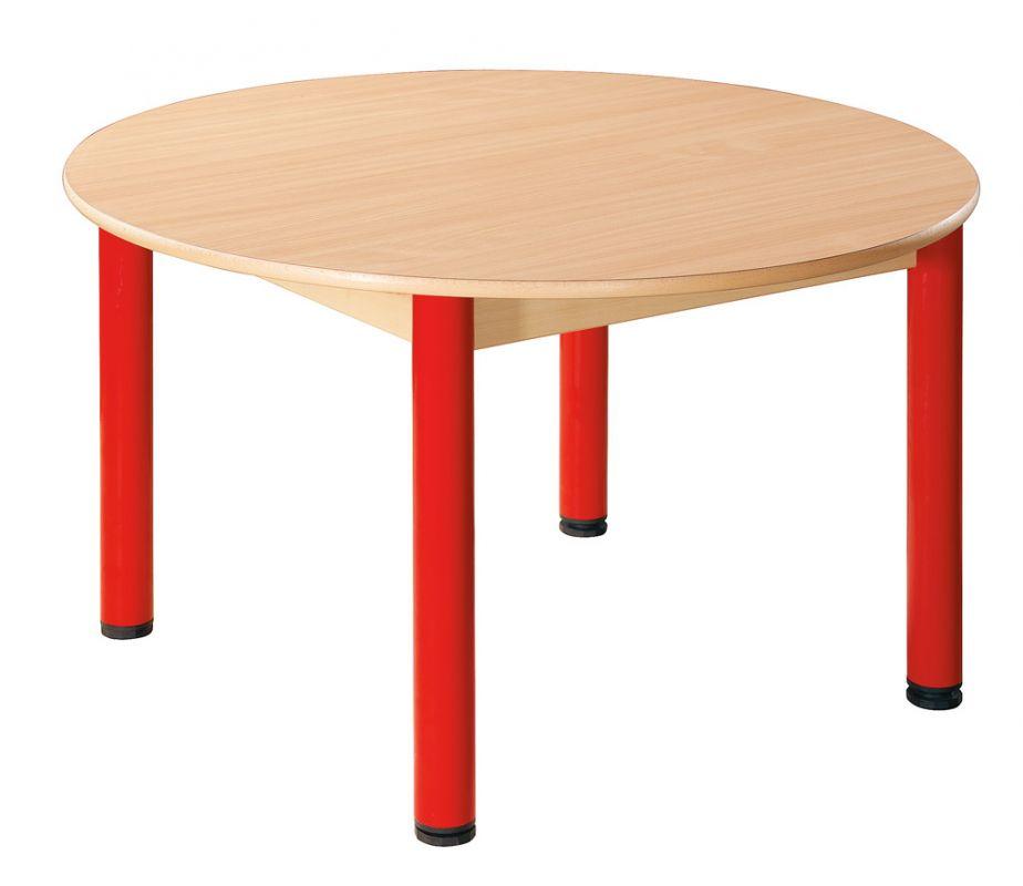Stôl kulatý průměr 100 cm / kovové nohy s rektifikačnou patkou