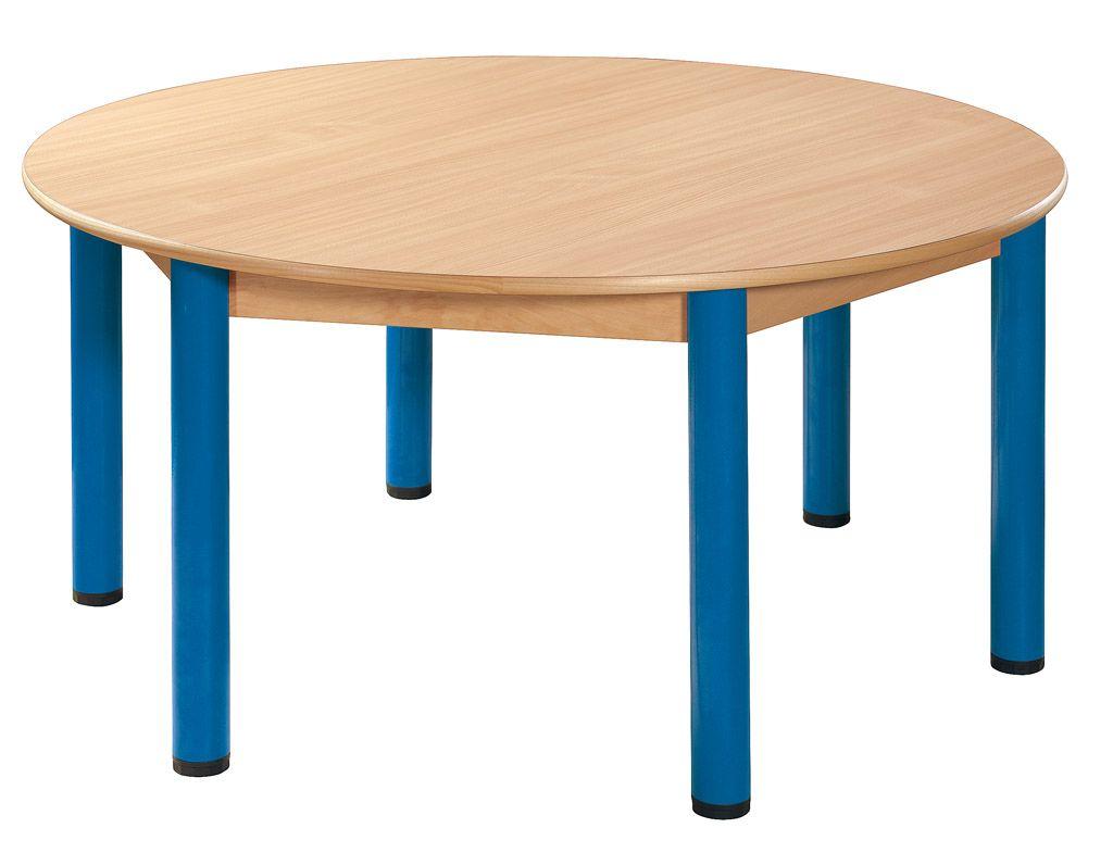 Stôl kulatý průměr 120 cm / kovové nohy s rektifikačnou patkou