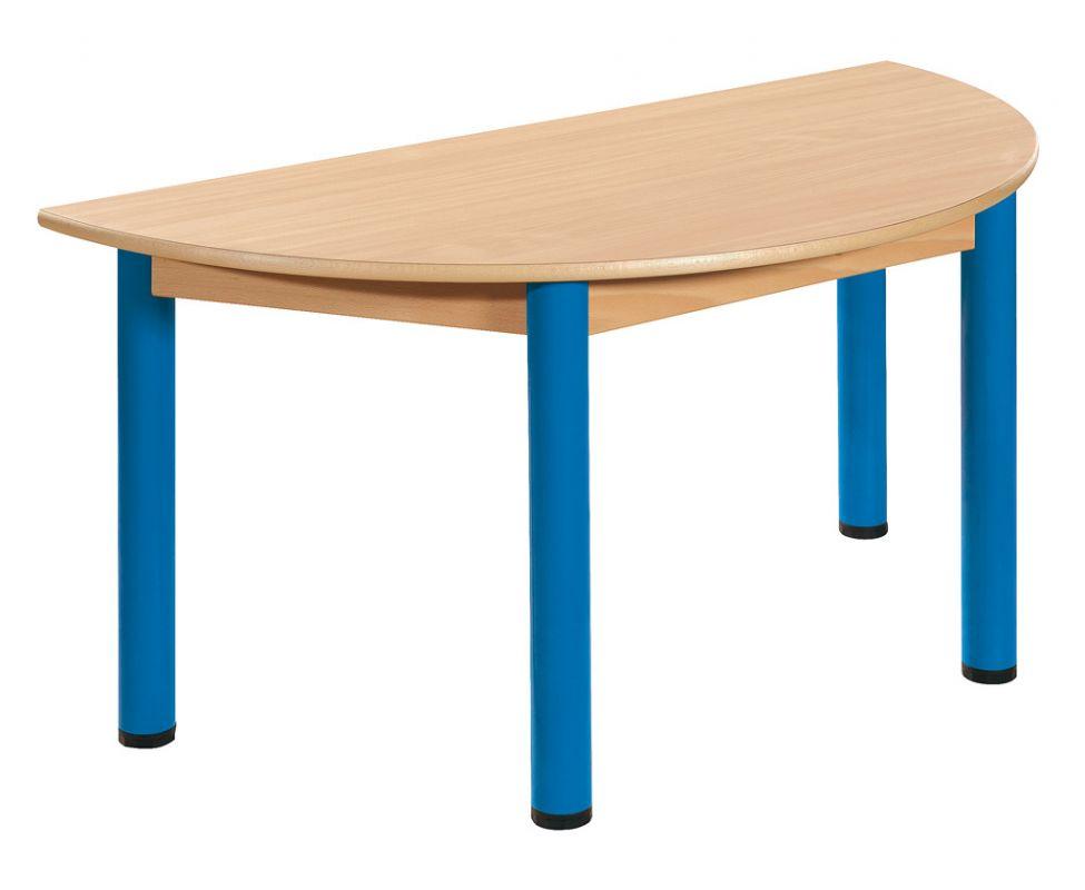 Stôl půlkulatý 120 x 60 cm / kovové nohy s rektifikačnou patkou