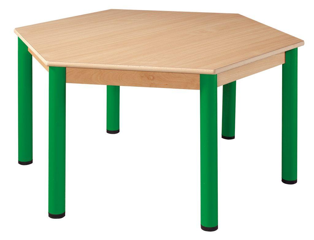 Stôl šestistranný prům. 120 cm / kovové nohy s rektifikačnou patkou