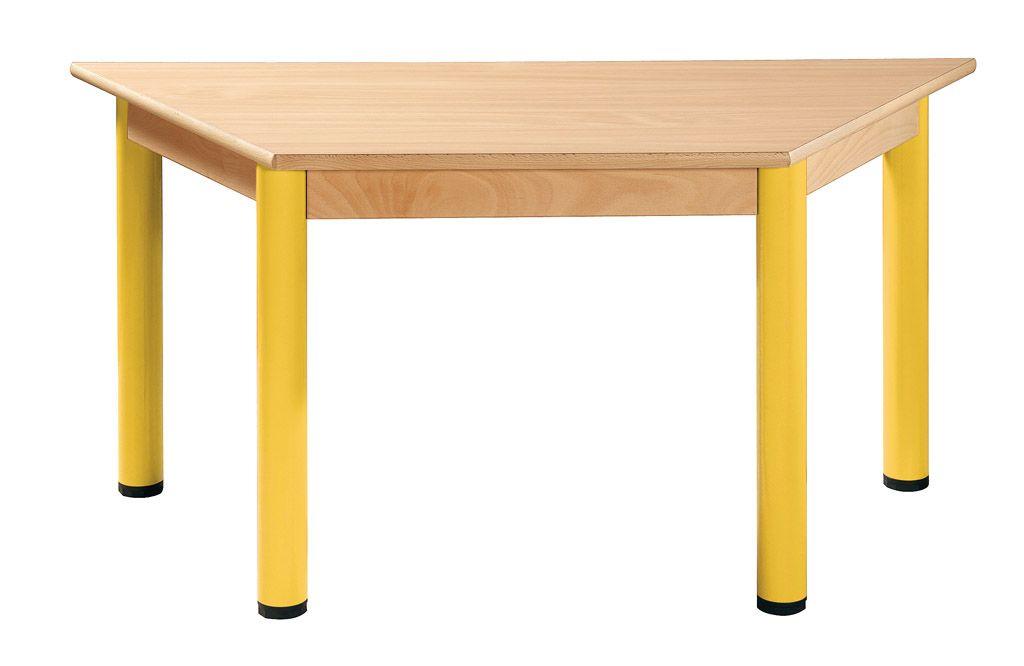 Stôl trapézový 120 x 60 cm / kovové nohy s rektifikačnou patkou