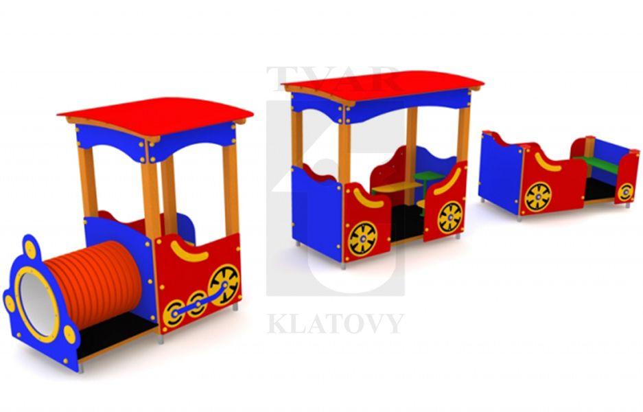 VLACEK - Lokomotiva a dva vagony