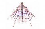 Maká pyramída z oceľovej konštrukcie a lán
