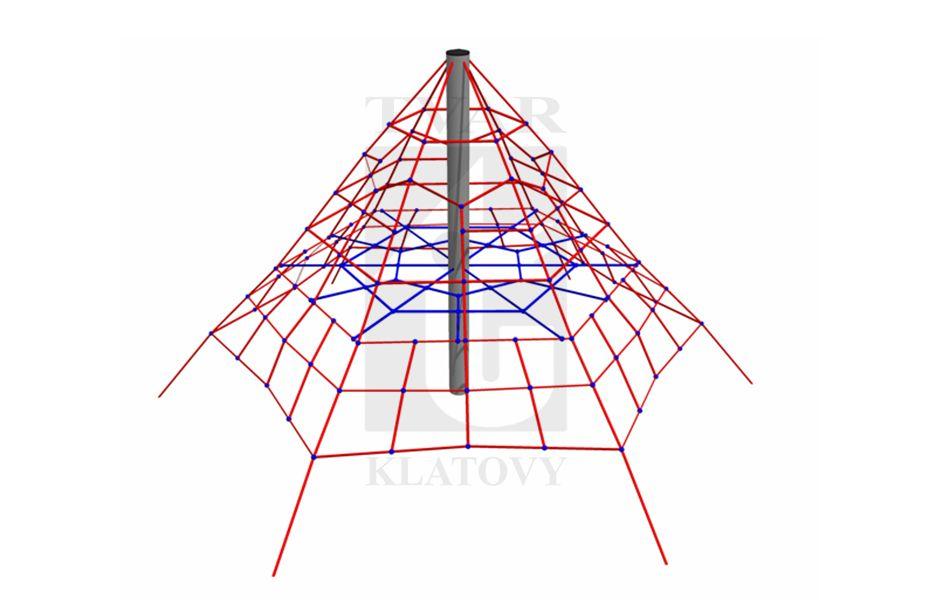 PYR MA - Malá pyramida z ocelové konstrukce a lan