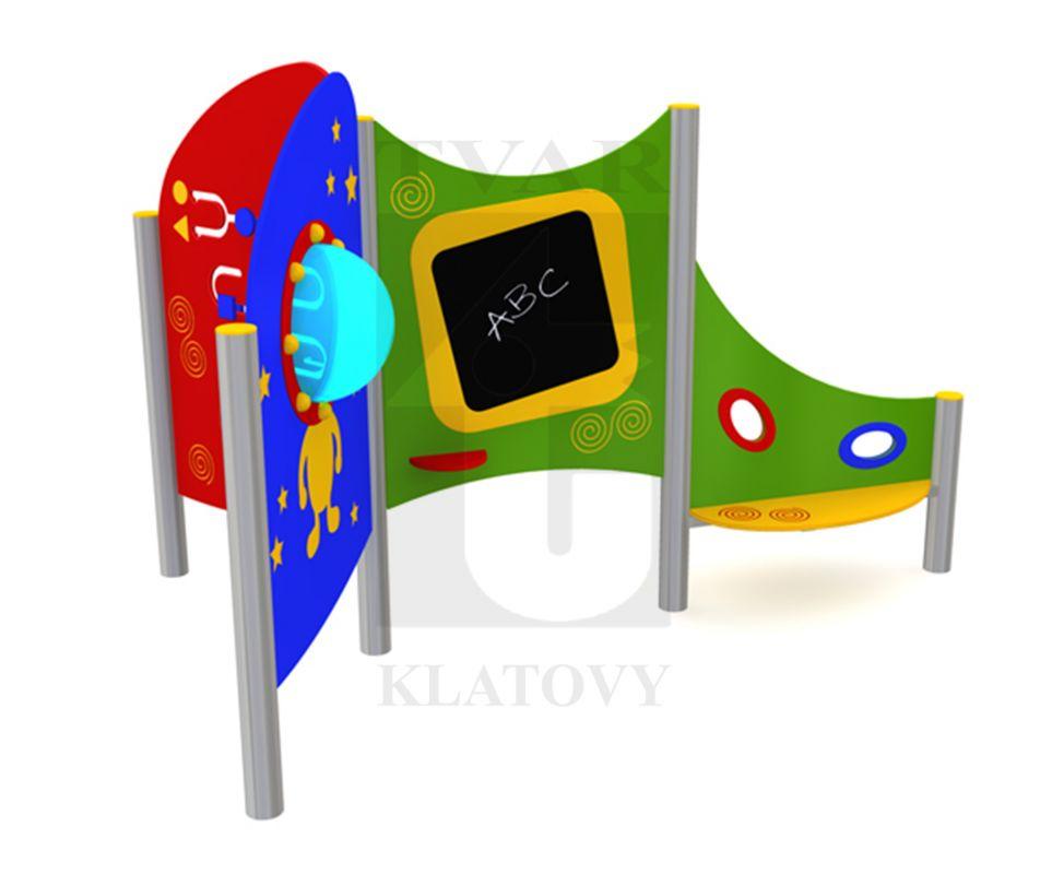 PLOT EL 4 - Sestava se stolkem a sítkem na písek, labyrint, tabule a malé okno