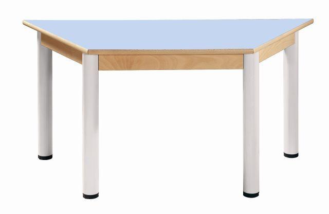 Trapézový stôl 120 x 60 cm / výška 36 - 52 cm