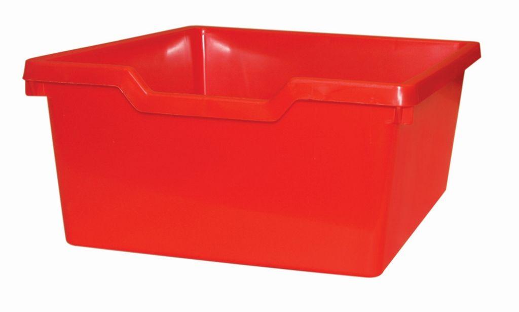 Plastová zásuvka N2 DOUBLE - červená Gratnells