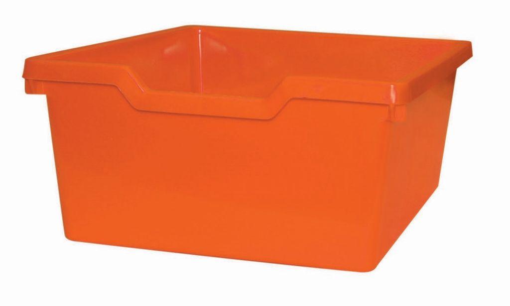 Plastová zásuvka N2 DOUBLE - oranžová Gratnells
