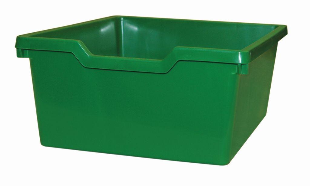 Plastová zásuvka N2 DOUBLE - zelená Gratnells