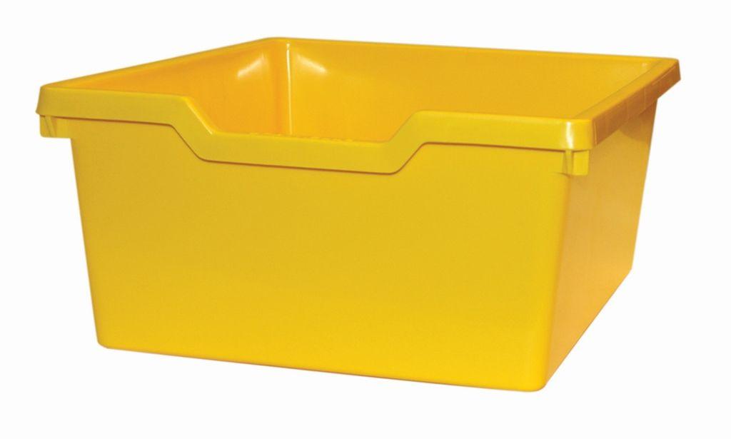 Plastová zásuvka N2 DOUBLE - žltá Gratnells