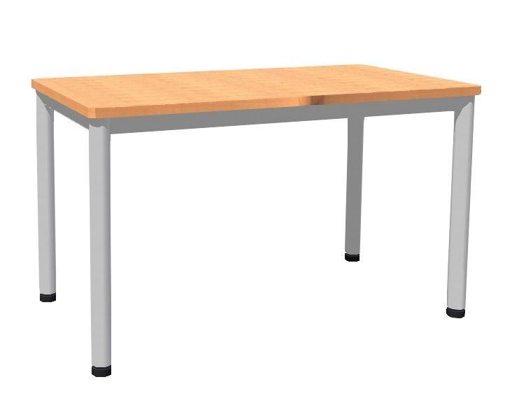 Stôl 120 x 80 cm / kovová podnož, lamino