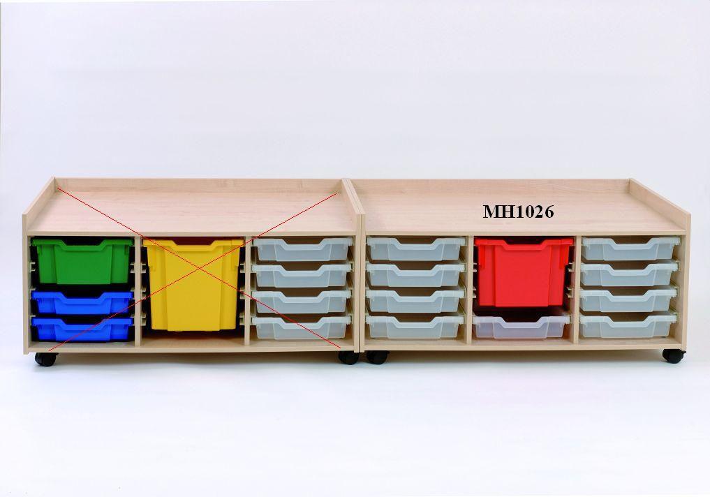 Hrací stolík so zásuvkami 104x77x51 cm