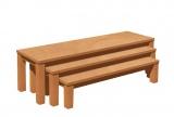 Set 3 laviček s umakartovým sedákom