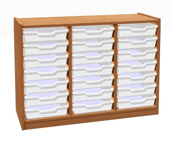 Skrinka s 21 plastovými zásuvkami TVAR v.d. Klatovy