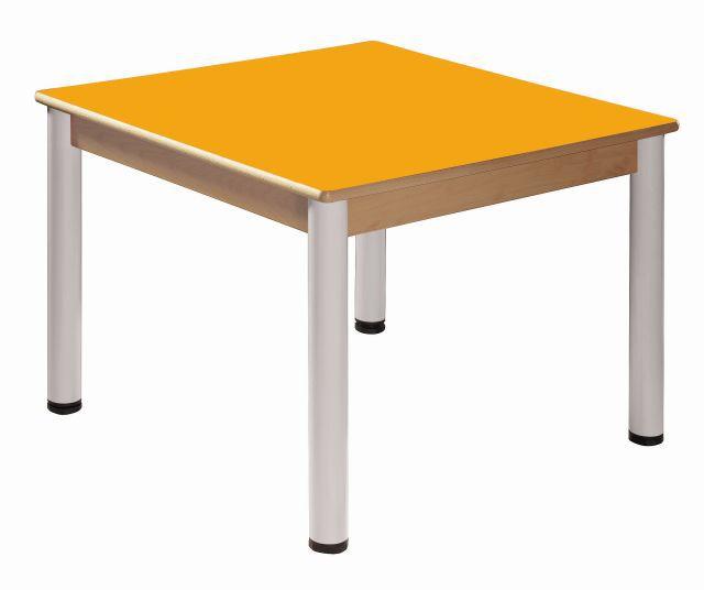 Stôl 80 x 80 cm / výškově stavitelné nohy 52 - 70 cm