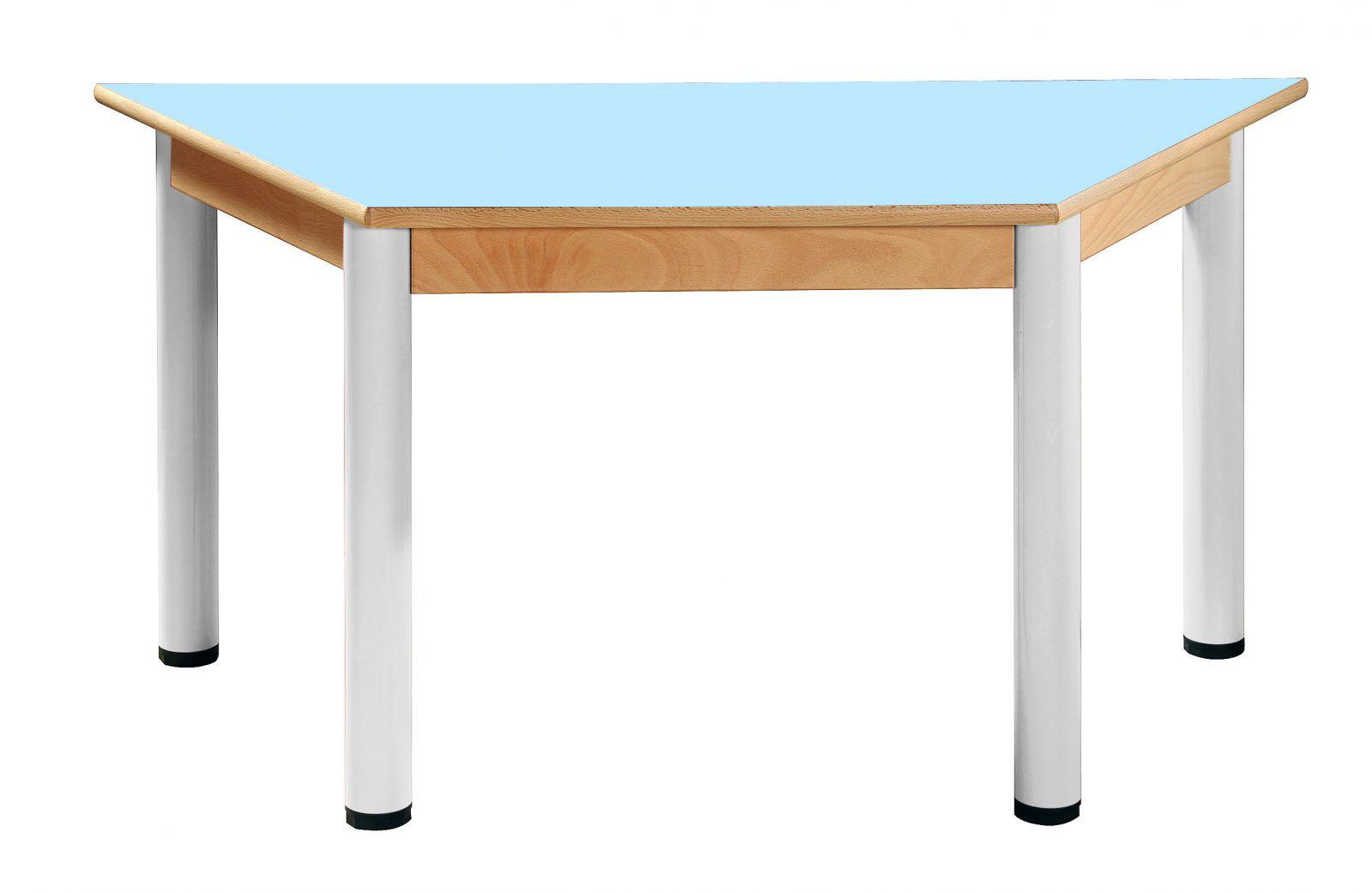 Stôl umakart trapézový 120 x 60 cm / výška 40 - 58 cm