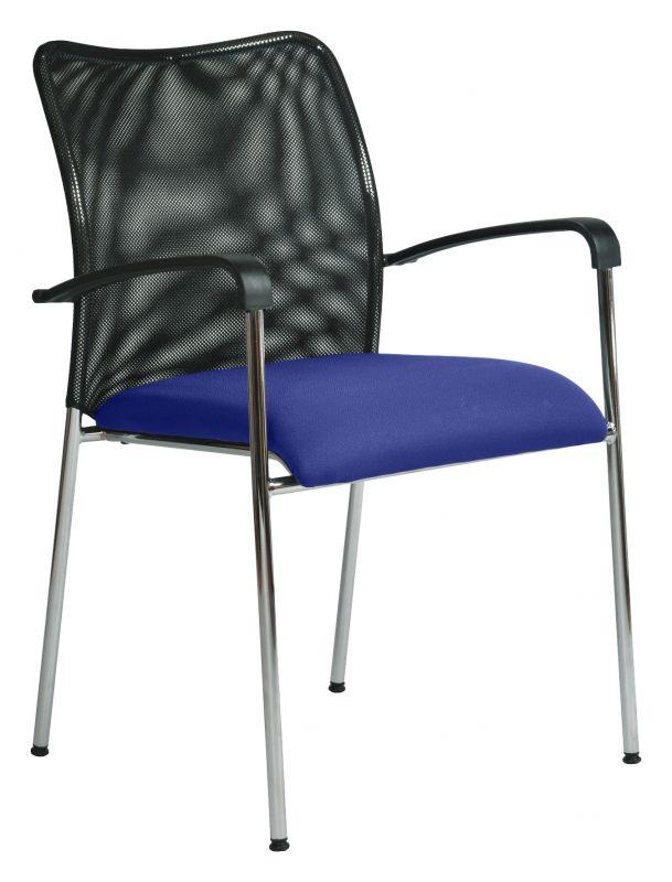 Stolička jednací čalouněná s područkami