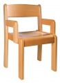 Stolička s podrúčkami - morený sodák a opěrák