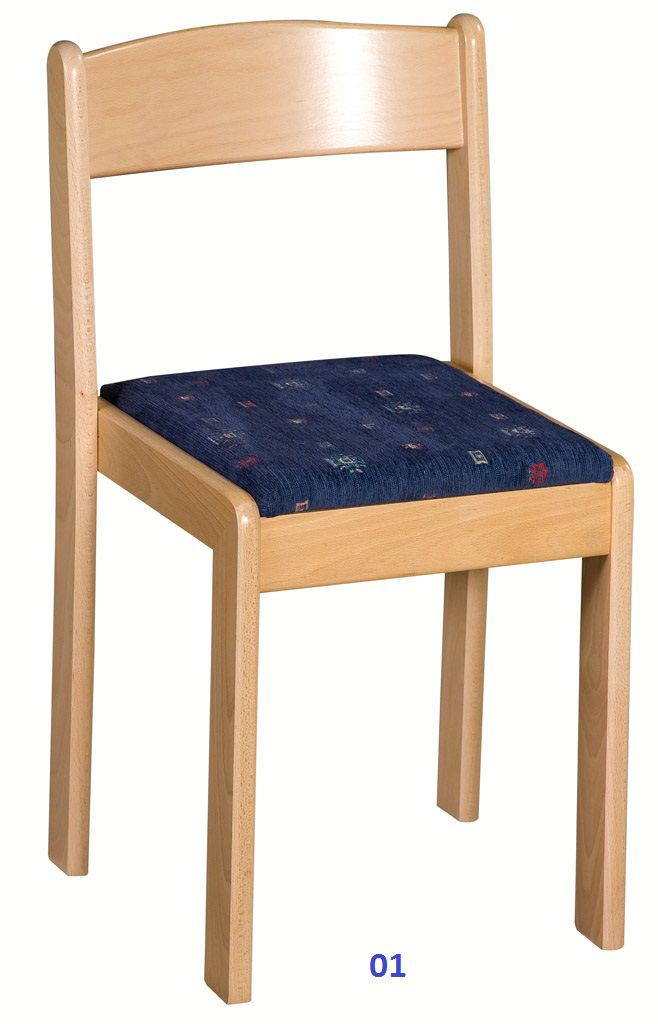 Stolička stohovatelná - čalúnený sedák