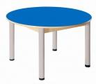Stôl kruh průměr 100 cm/ výška 40 - 58 cm