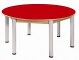Stôl kruh průměr 120 cm / výška 40 - 58 cm